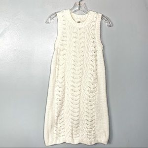 Fossil White Knit Sweater Dress Size XS